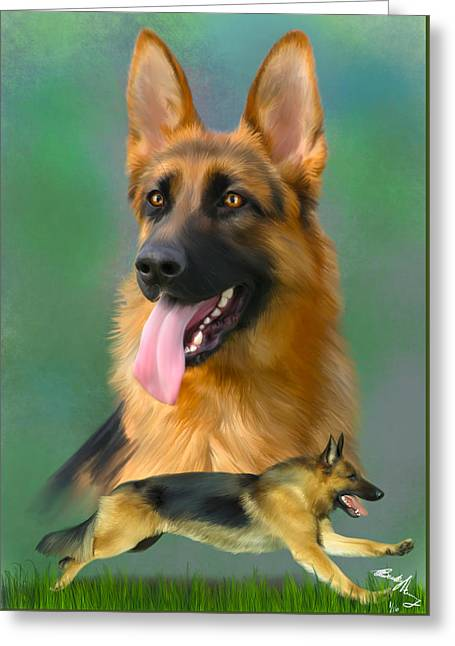 German Shepherd Breed Art Greeting Card