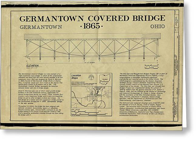 Germantown Covered Bridge Greeting Card by Jack R Perry