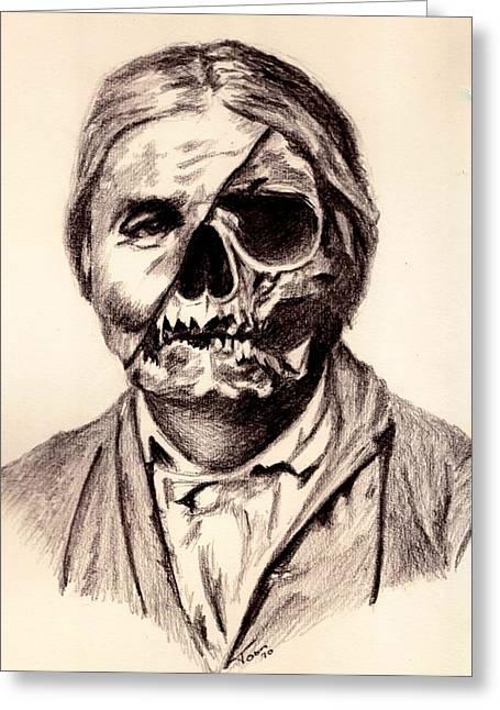 Geronimo's Skull Greeting Card