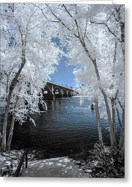 Gervais St. Bridge In Surreal Light Greeting Card