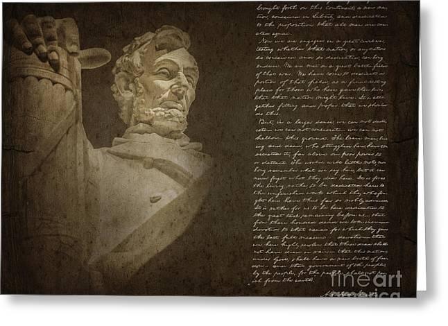 Gettysburg Address Greeting Card by Diane Diederich
