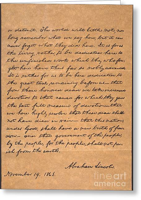 Gettysburg Address Greeting Card
