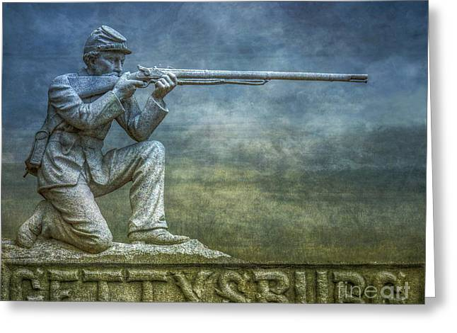 Gettysburg Battlefield Greeting Card by Randy Steele