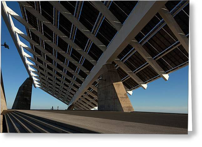 Giant Solar Panel, Parc Del Forum Greeting Card by Panoramic Images