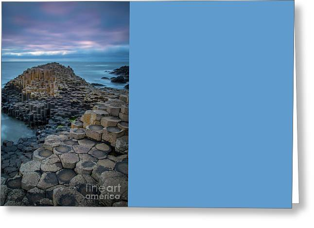 Giant's Causeway Evening Greeting Card by Brian Jannsen