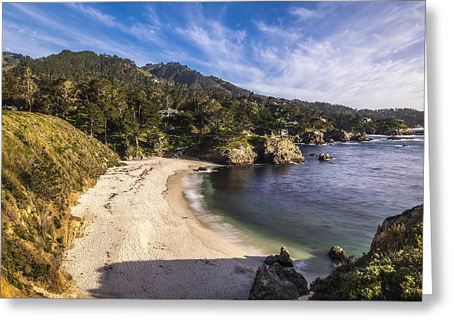 Point Lobos State Reserve Greeting Cards - Gibson Beach Greeting Card by Joseph S Giacalone