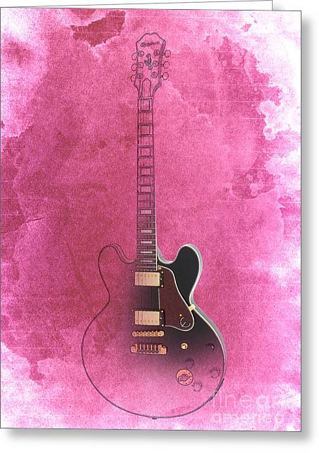Gibson Lucille Guitar Greeting Card by Pablo Franchi