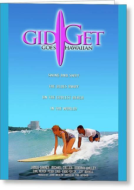 Gidget Goes Hawaiian Greeting Card by Ron Regalado