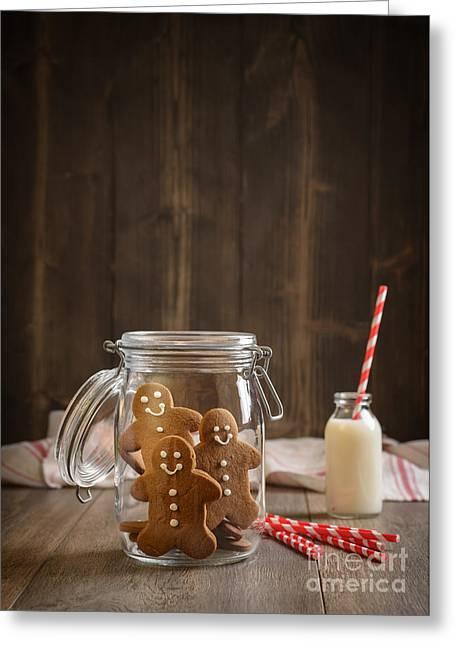 Gingerbread Jar Greeting Card by Amanda Elwell