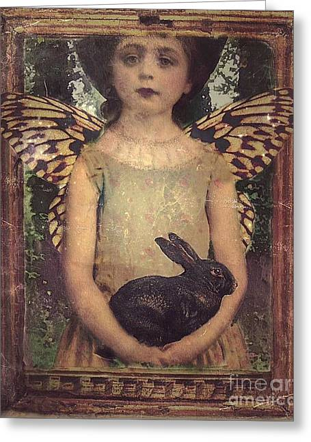 Girl In The Garden Greeting Card by Alexis Rotella