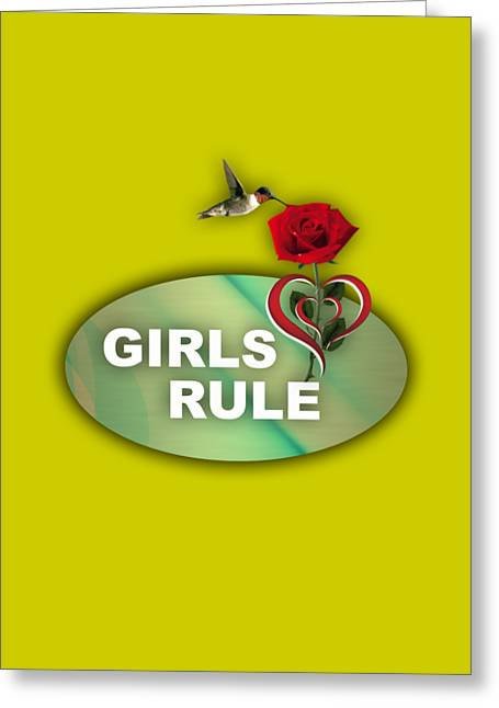 Girls Rule Collection Greeting Card