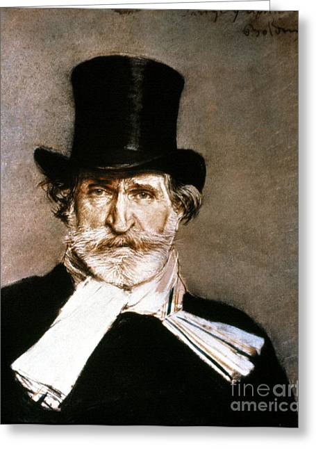 Giuseppe Verdi (1813-1901) Greeting Card