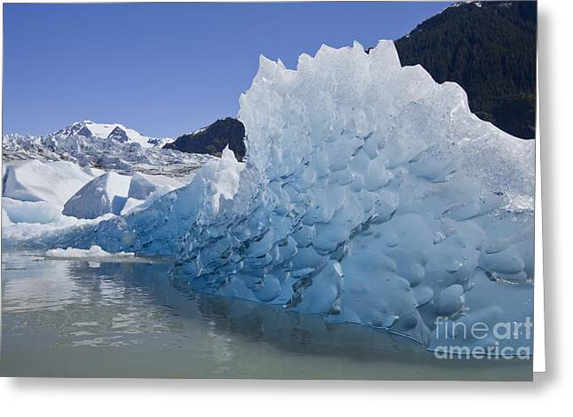 Glacial Ice Greeting Card by John Hyde - Printscapes