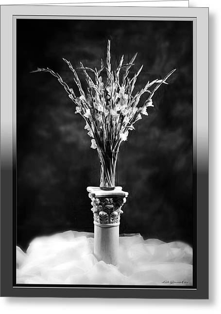 Greeting Card featuring the photograph Gladiolas by Linda Olsen