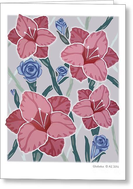 Gladiolus Greeting Card by David Azzarello