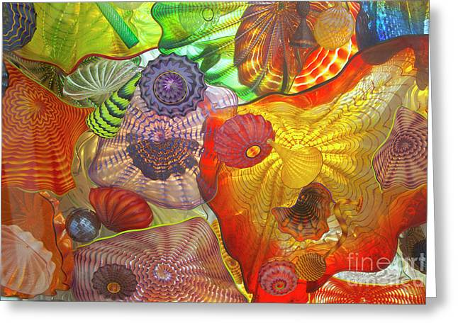 Tacoma Greeting Cards - Glass art.  Greeting Card by Gino Rigucci