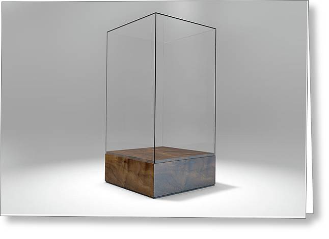 Glass Display Case Greeting Card
