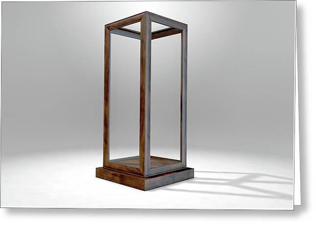 Glass Display Case Verticle Greeting Card by Allan Swart