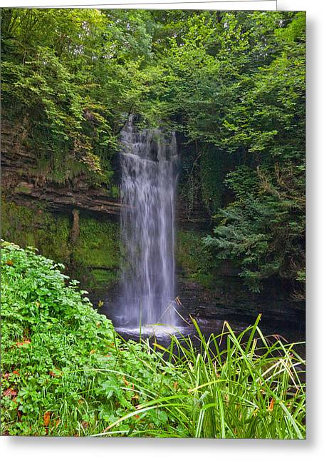 Glencar Waterfall Is Situated Greeting Card