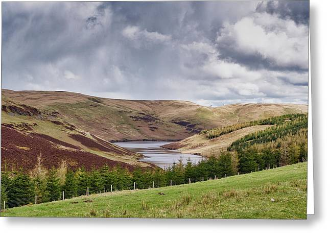 Greeting Card featuring the photograph Glensherup Reservoir by Jeremy Lavender Photography