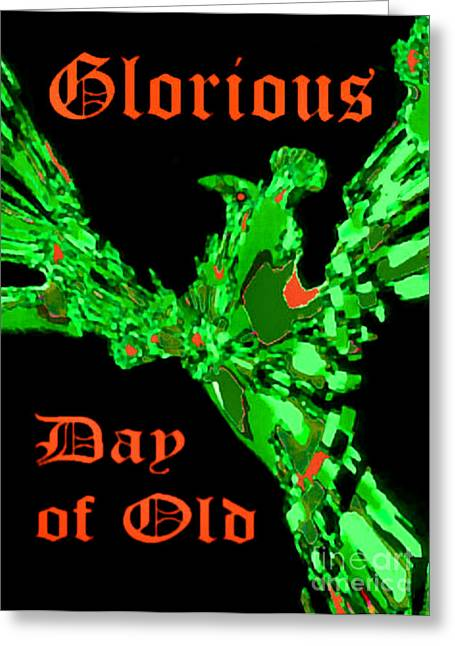 Greeting Card featuring the digital art Glorious Day Of Old by Elinor Mavor