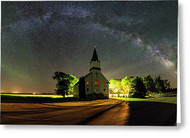 Greeting Card featuring the photograph Glorious Night by Aaron J Groen