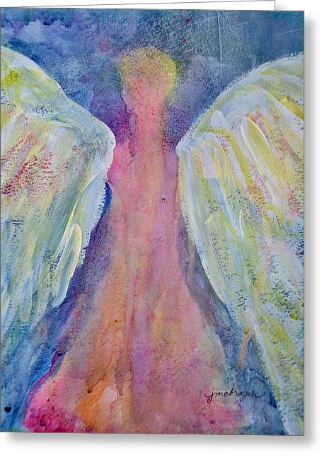 Glowing Angel Greeting Card by Jeanne MCBRAYER