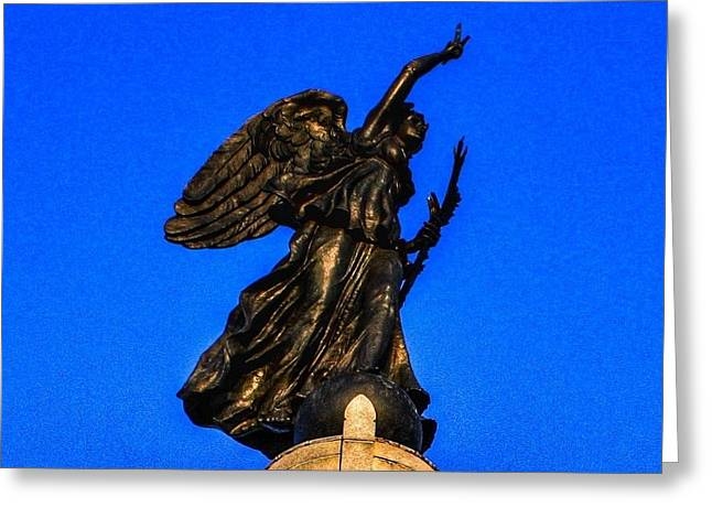 Goddess Of Victory And Peace Greeting Card