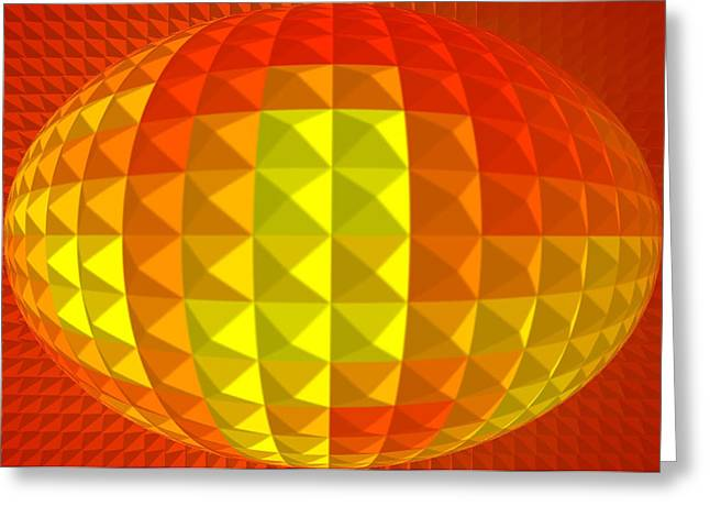 Scenario Greeting Cards - Golden Ellipse Greeting Card by Ramon Labusch