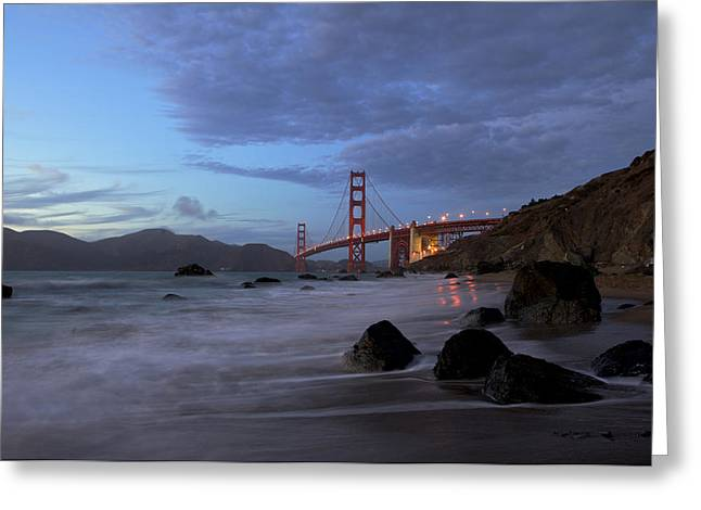 Greeting Card featuring the photograph Golden Gate Bridge by Evgeny Vasenev