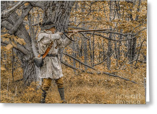 Golden Morning Hunt Greeting Card by Randy Steele