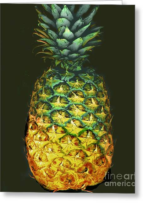 Greeting Card featuring the photograph Golden Pineapple by Merton Allen