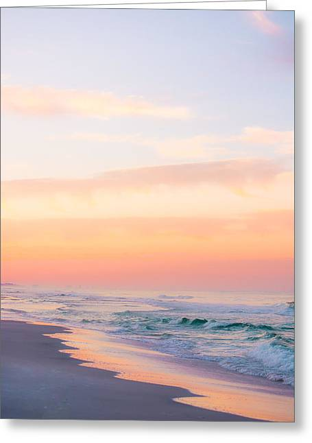 Golden Sunrise In Seaside Greeting Card by Shelby Young