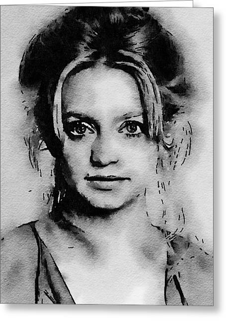 Goldie Hawn Hollywood Icon By John Springfield Greeting Card