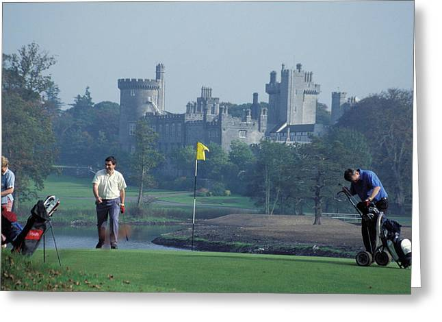 Golf At Dromoland Castle Greeting Card by Carl Purcell
