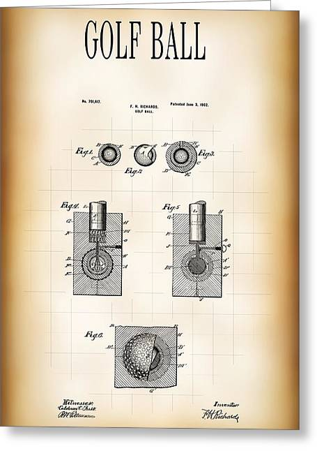 Golf Ball Patent 1902 Greeting Card