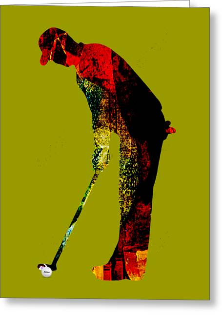 Golf Collection Greeting Card by Marvin Blaine