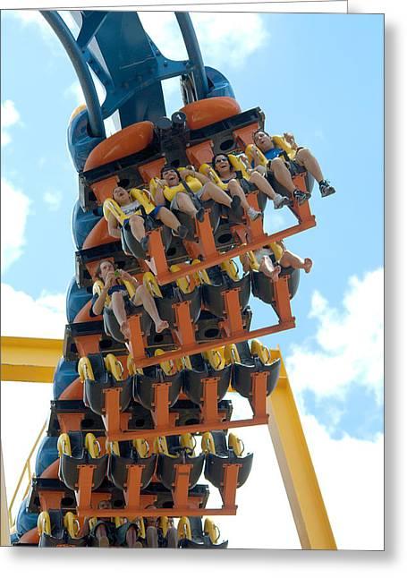 Goliath Rollercoaster Greeting Card