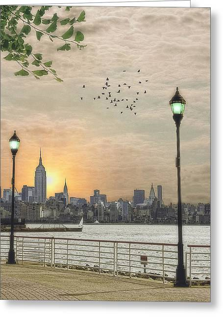 Good Morning New York Greeting Card by Tom York Images