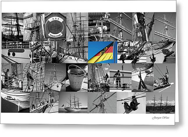 Gorch Fock 1958 Greeting Card