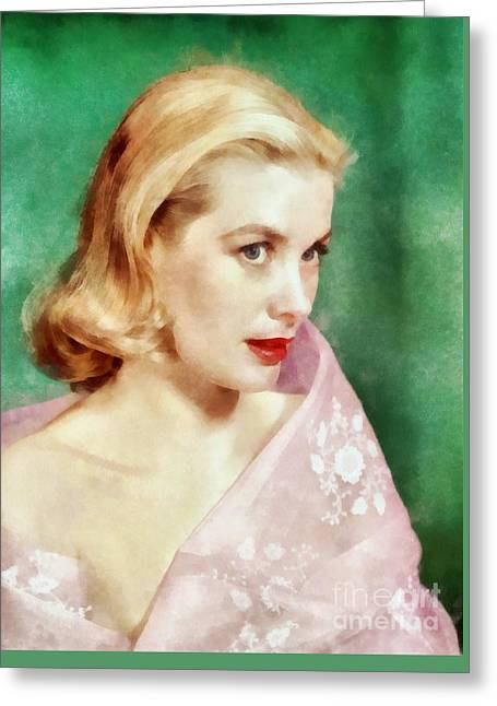 Grace Kelly By John Springfield Greeting Card