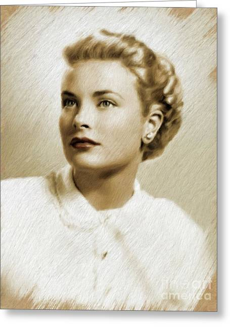 Grace Kelly, Vintage Actress Greeting Card