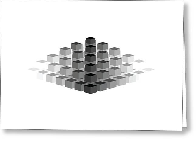 Gradient Pyramid Greeting Card