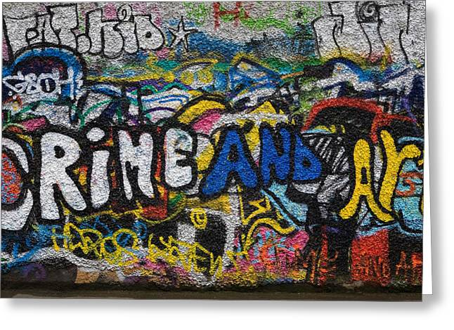 Grafitti On The U2 Wall, Windmill Lane Greeting Card by Panoramic Images
