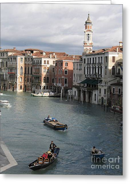 Gran Canal. Venice Greeting Card by Bernard Jaubert
