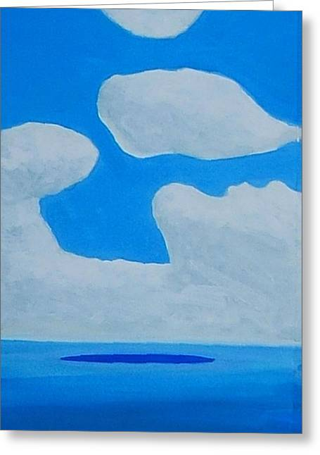 Greeting Card featuring the painting Grand Bahama Cloudscape by Dick Sauer