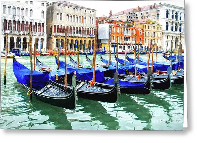 Greeting Card featuring the photograph Grand Canal In Venice by Mel Steinhauer