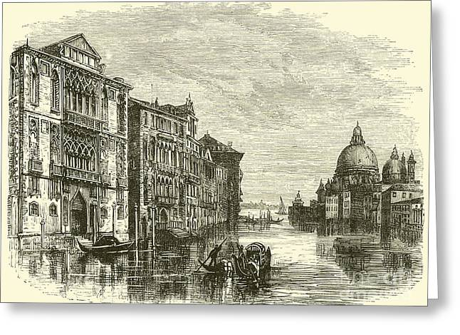 Grand Canal, Venice Greeting Card by E Jennings