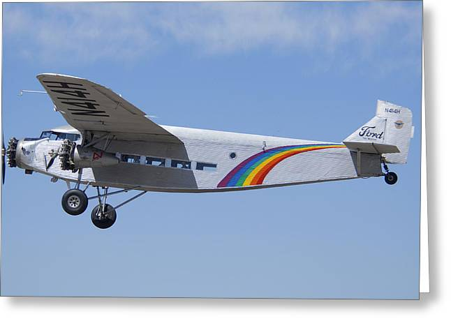 Grand Canyon Airlines Ford 5-at-c Trimotor N414h Valle Az Greeting Card