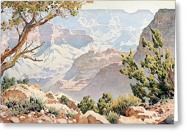 Grand Canyon Greeting Card by Gunnar Widforss